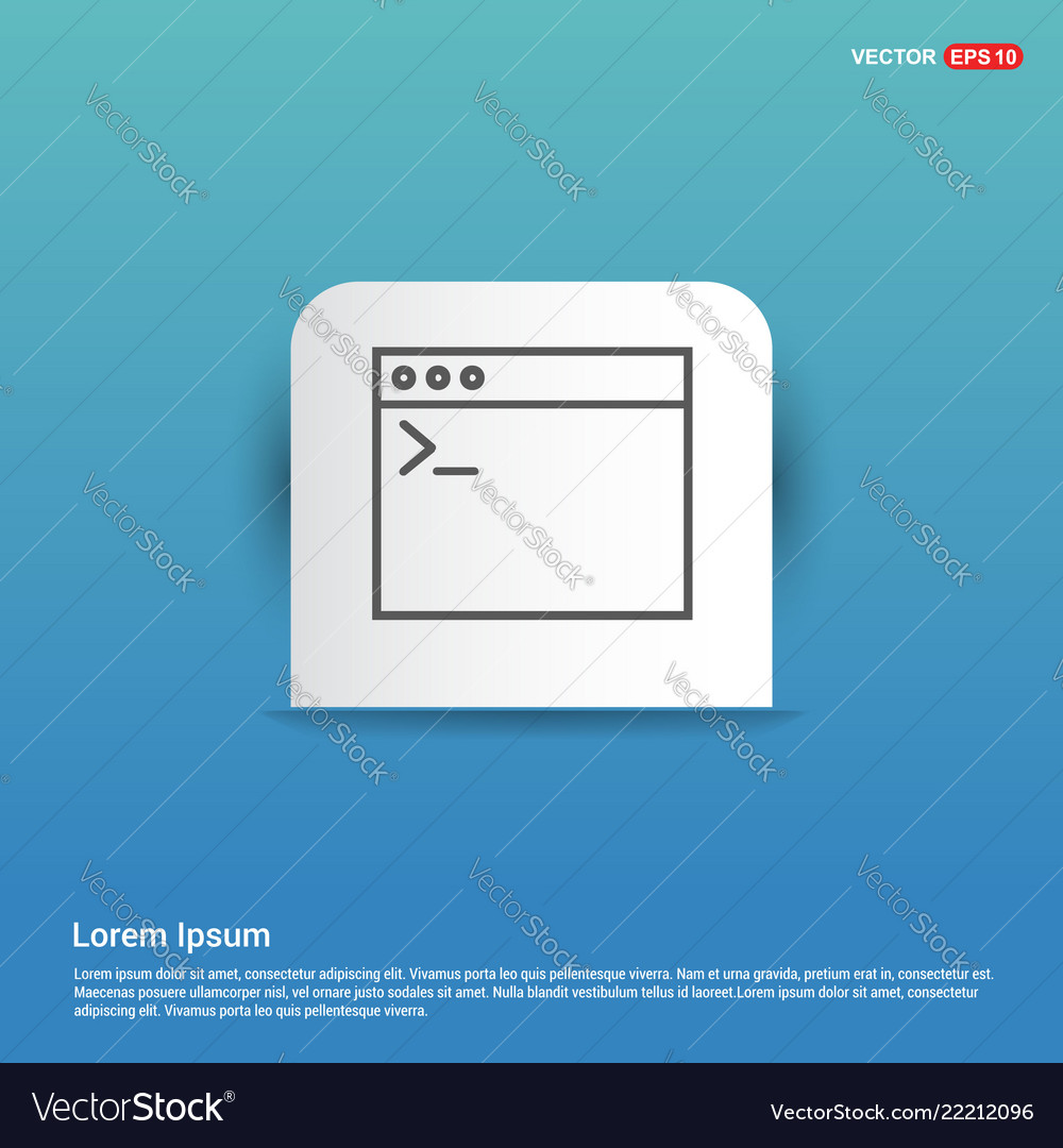 Application window interface icon - blue sticker