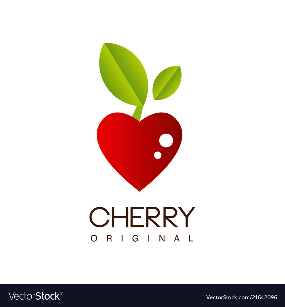 Cherry original creative logo template with ripe