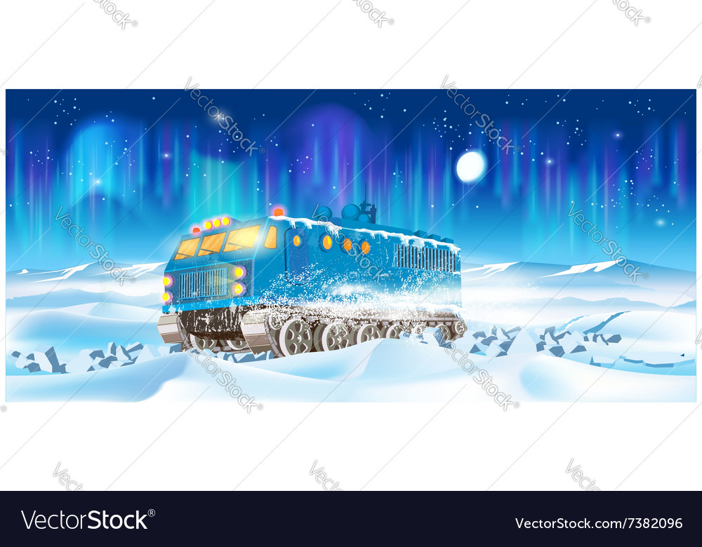 Cross country vehicle at night vector image