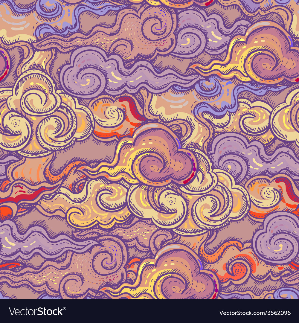 Seamless abstract pattern waves background