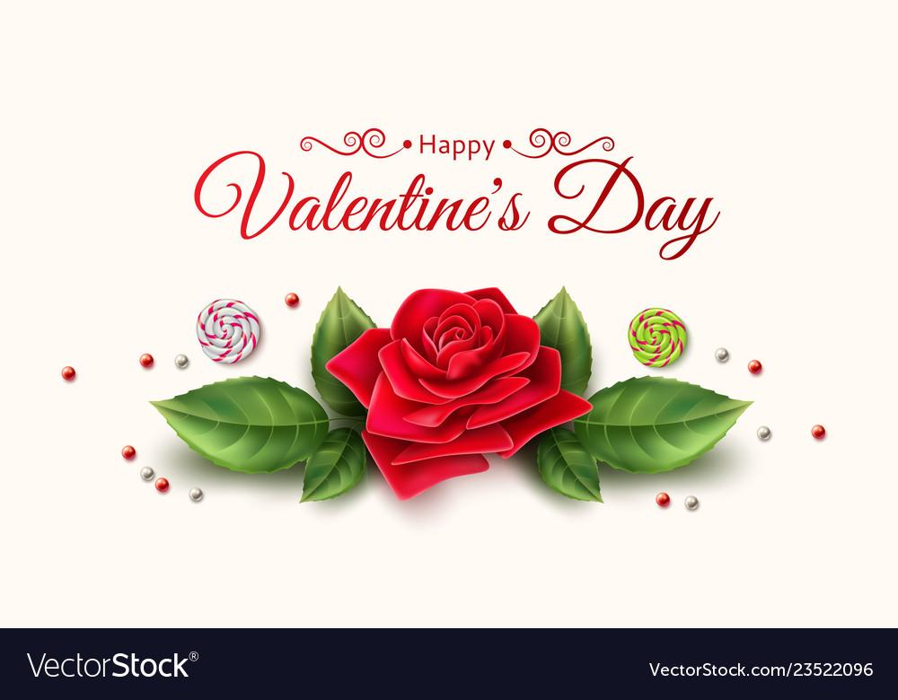 Valentine day rose flower candy pattern