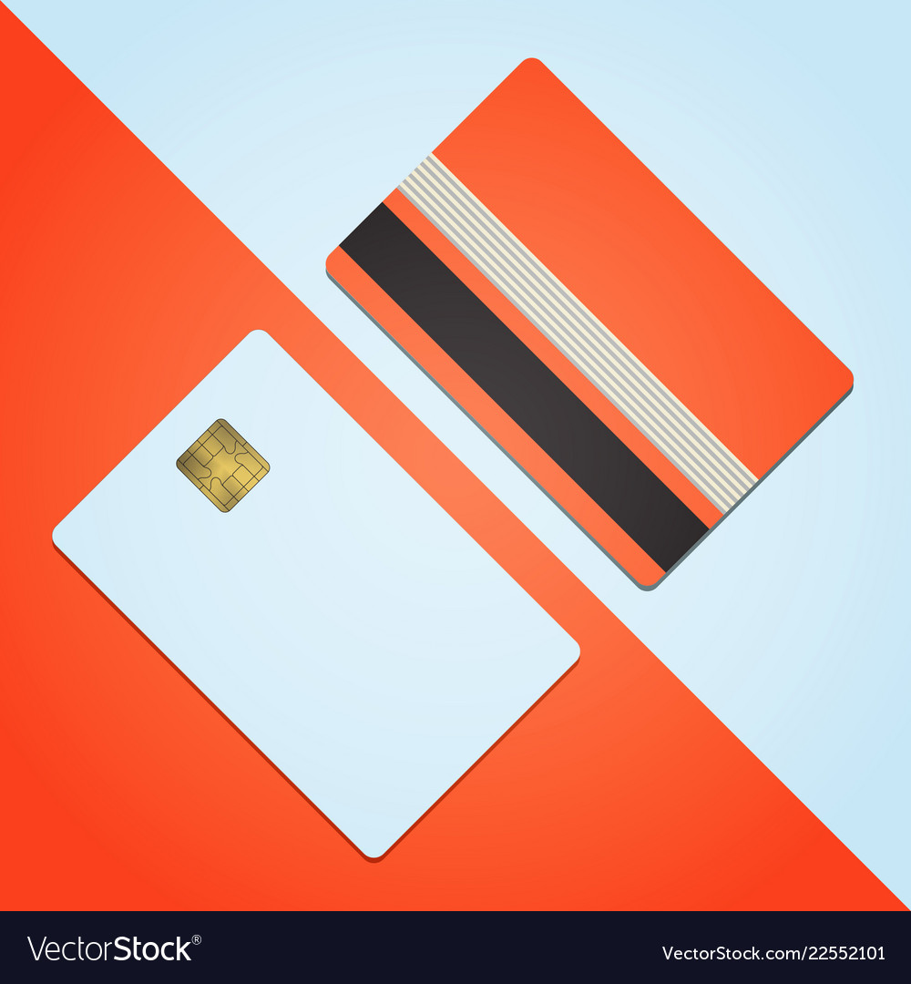 bank credit card mockup blank template icon design