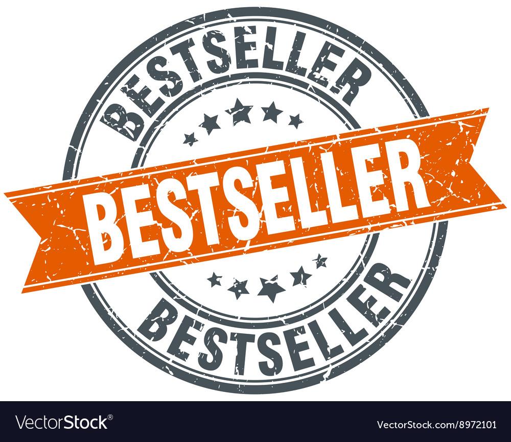 Bestseller round orange grungy vintage isolated