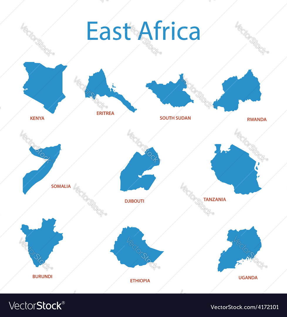 East africa - maps of territories
