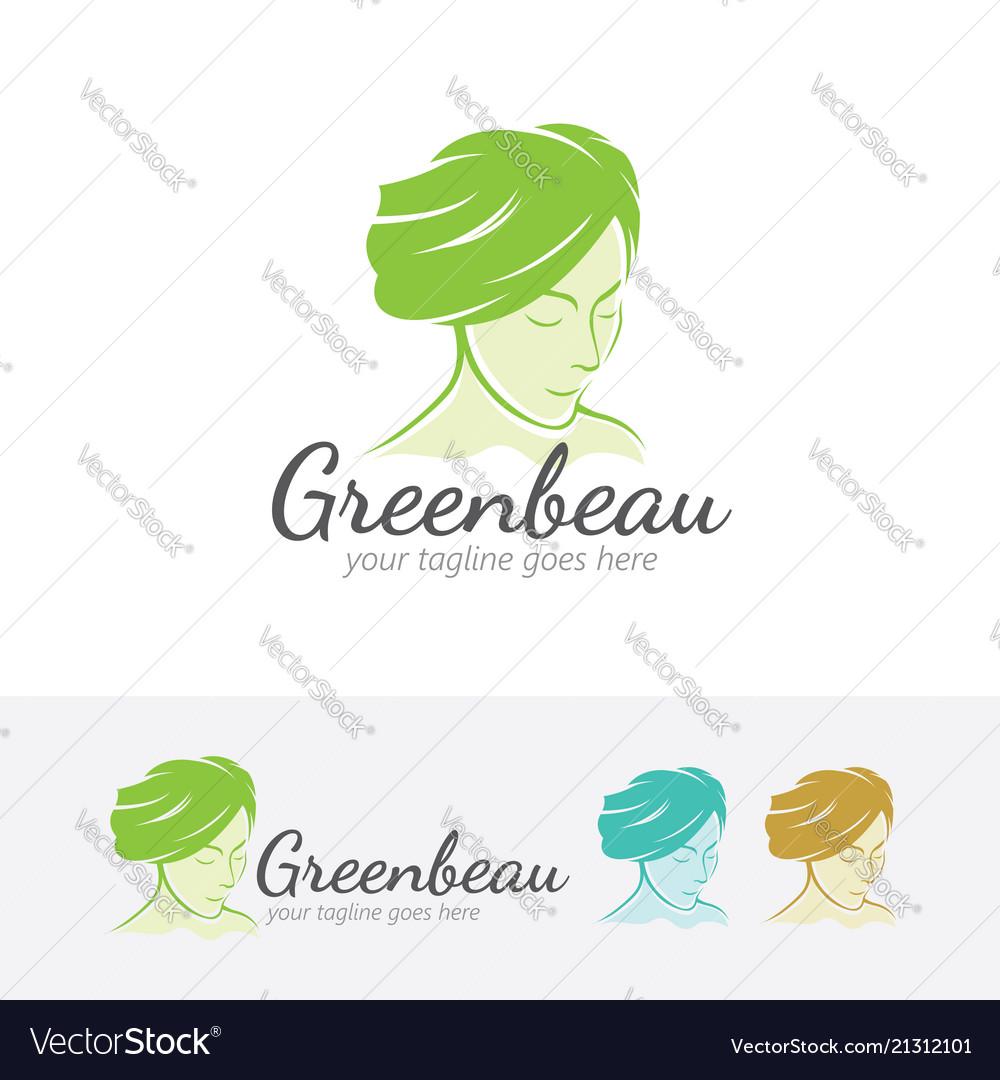 Green beauty logo design