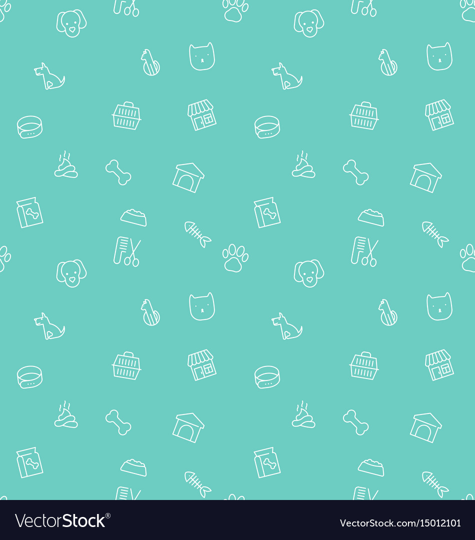 Seamless pattern and background thin line icons