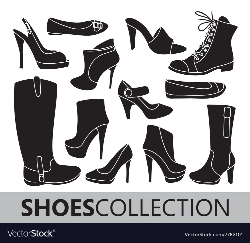 Shoes silhouettes collection