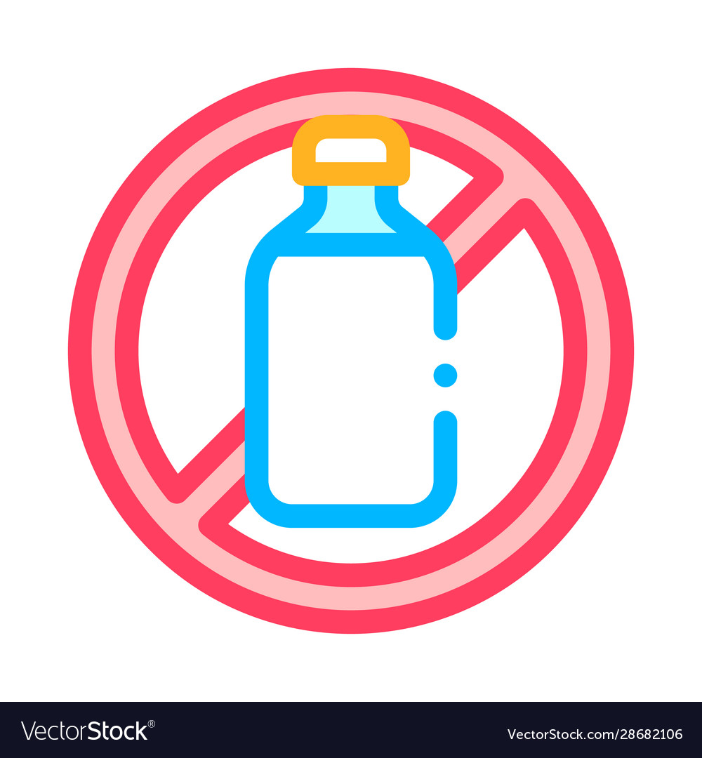 Allergen free sign lactose thin line icon