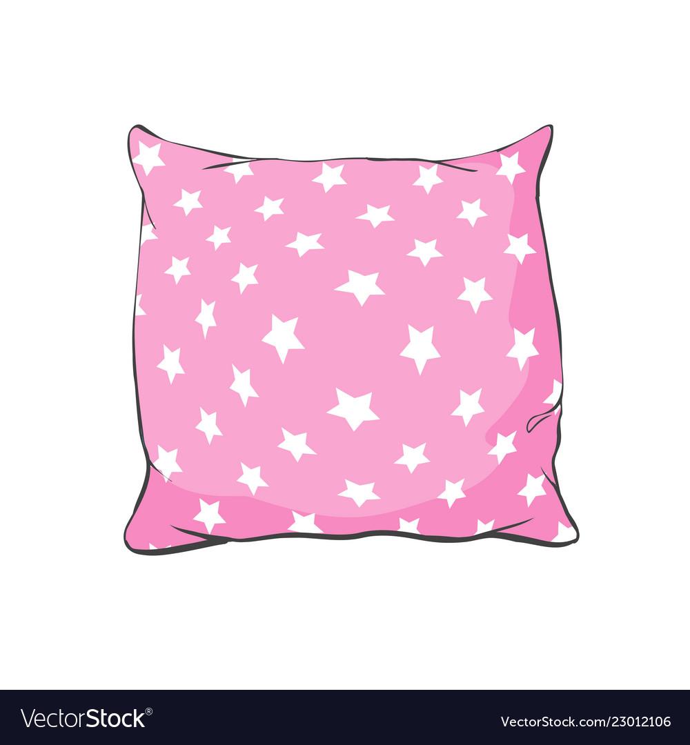Cartoon decorative pillows hand drawn set of