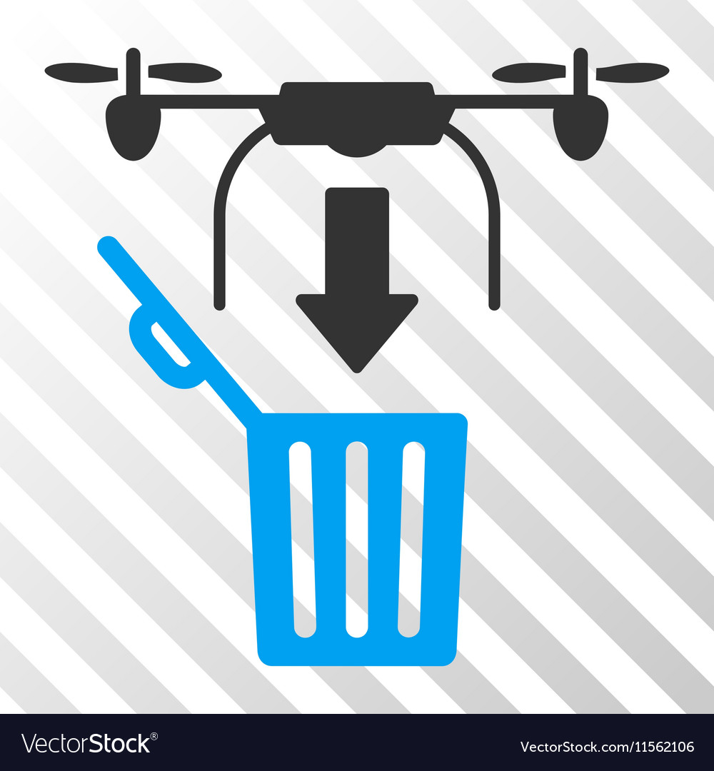 Drone Drop Trash Eps Icon