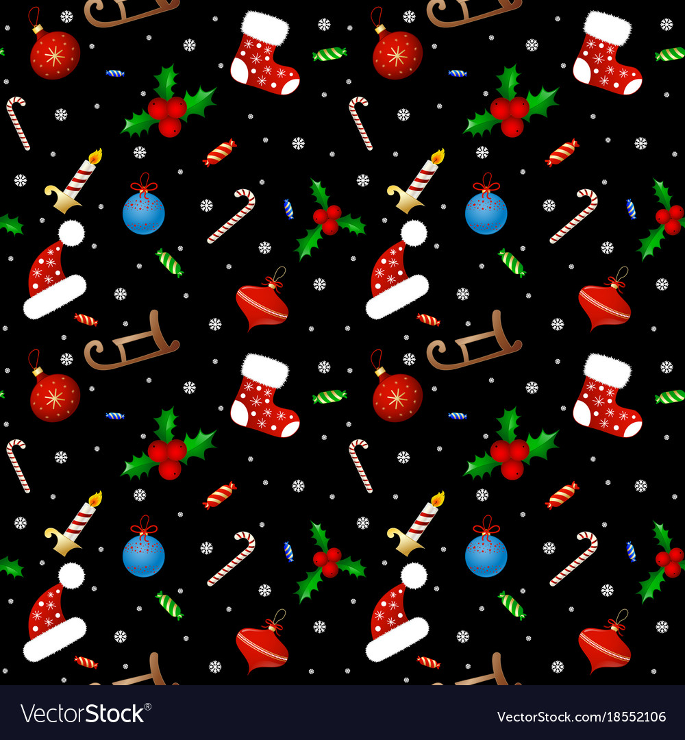 Seamless background pattern merry christmas