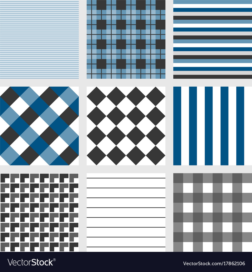 Seamless pattern with square navy blue tartan