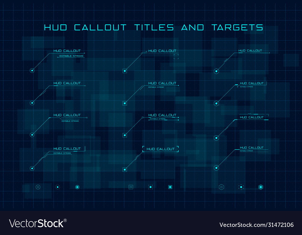 Set blue callout titles and targets in hud