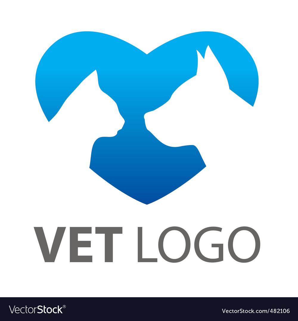 Template mark veterinary vector image