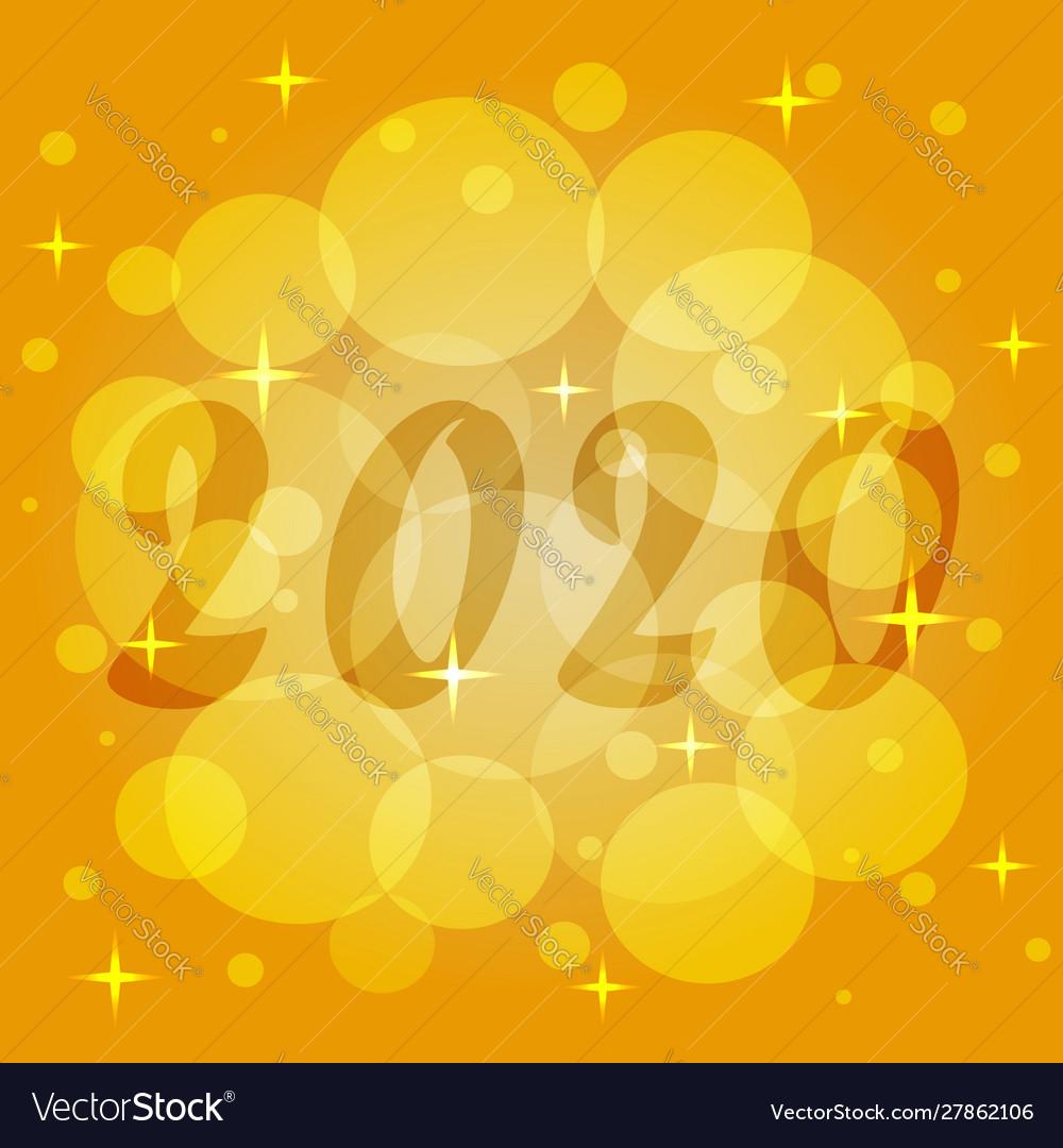 Christmas Magic 2020 Template new year 2020 christmas magic of Vector Image