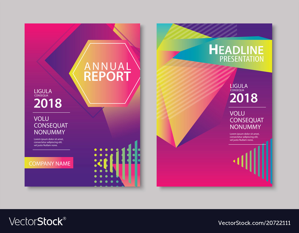 Abstract gradient modern geometric flyer and