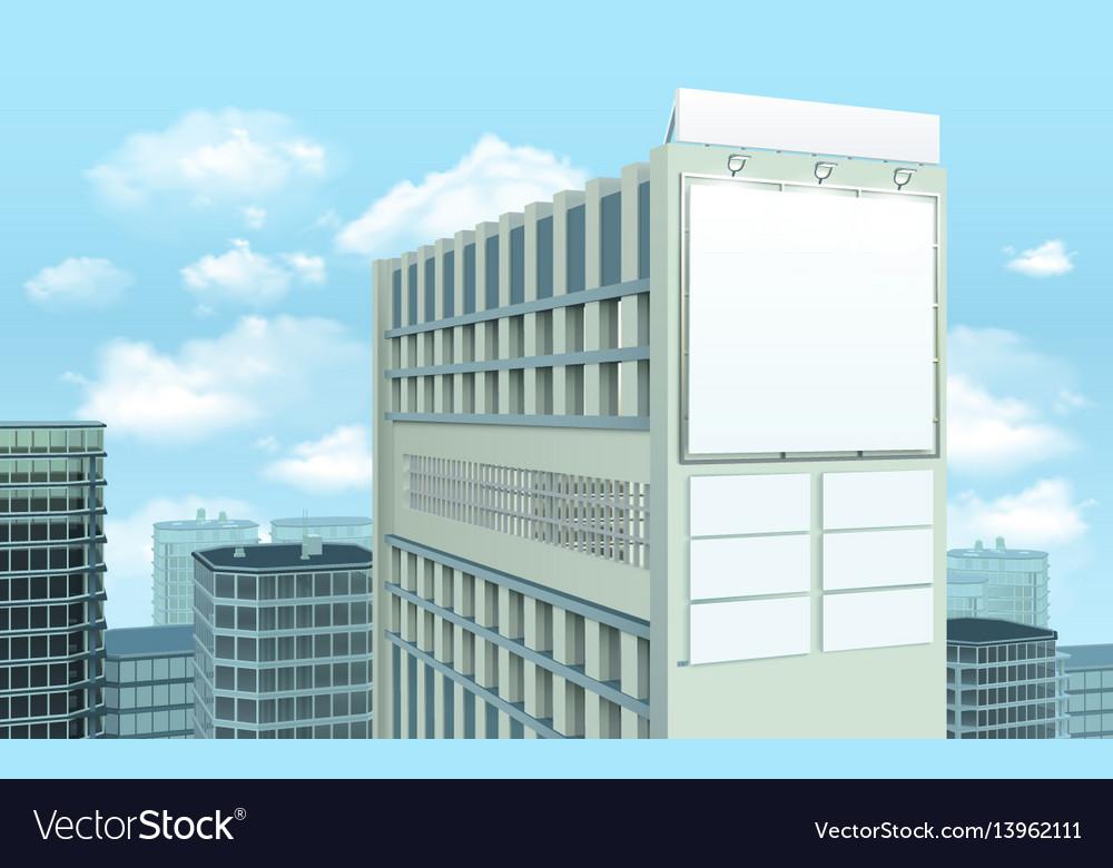 Billboard on building cityscape composition