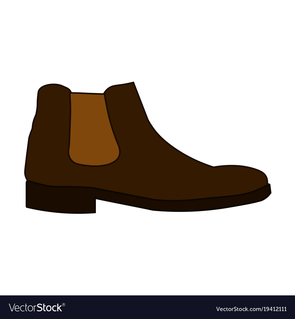 Classic chelsea shoe style boot icon isolated on