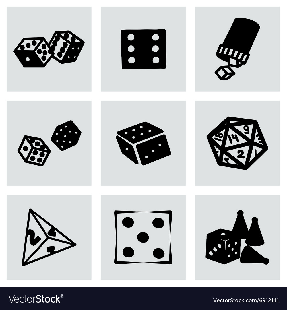 Dice icon set