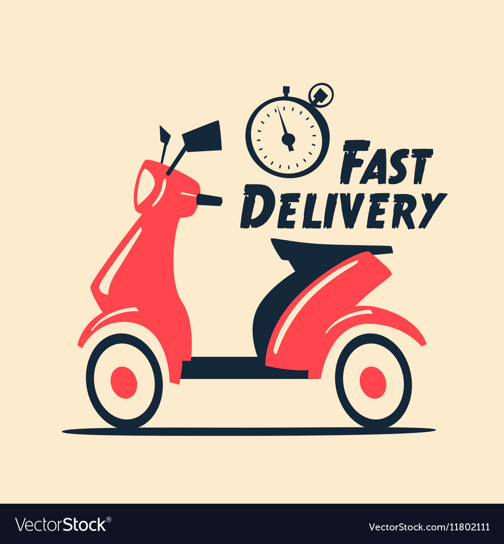 Fast and free delivery cartoon Royalty Free Vector Image 97089dc6dd9