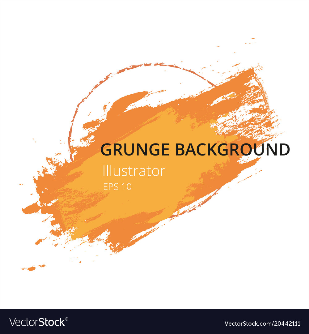 Orange hand paint artistic dry brush stroke grunge