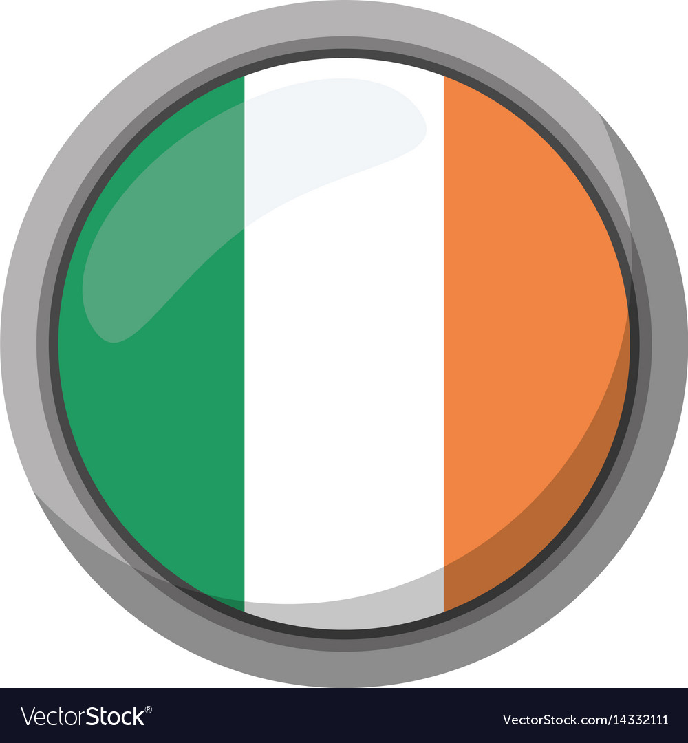 St patricks day irish flag emblem