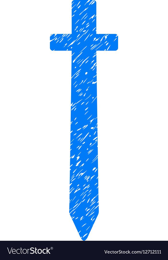 Symbolic Sword Grainy Texture Icon vector image