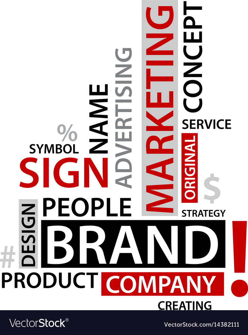 Word cloud with branding tags business concep