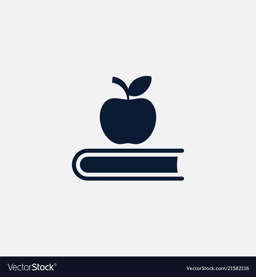 Book icon education apple sign