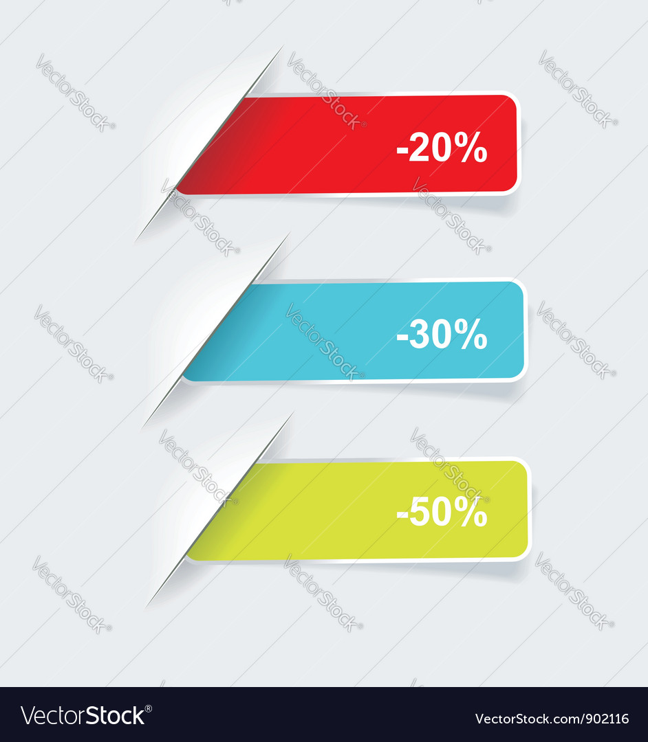 Colored sticker set vector image