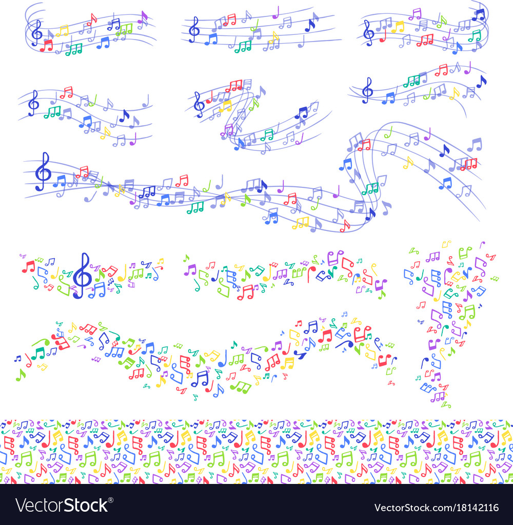 Notes music melody colorfull musician