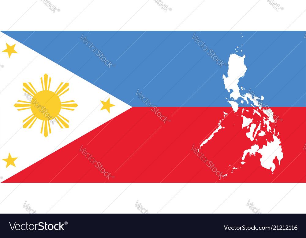 White map and filippino flag