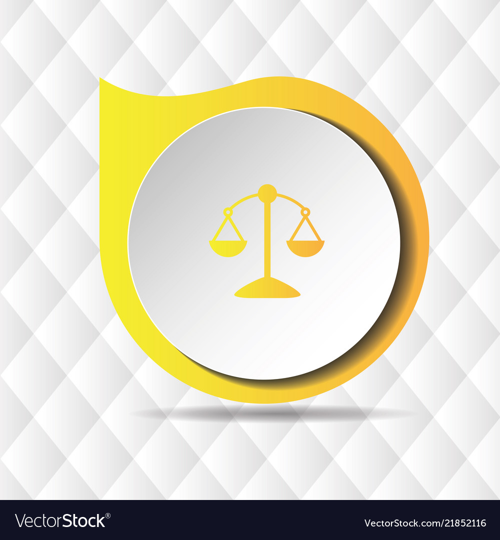 Yellow scale icon geometric background imag