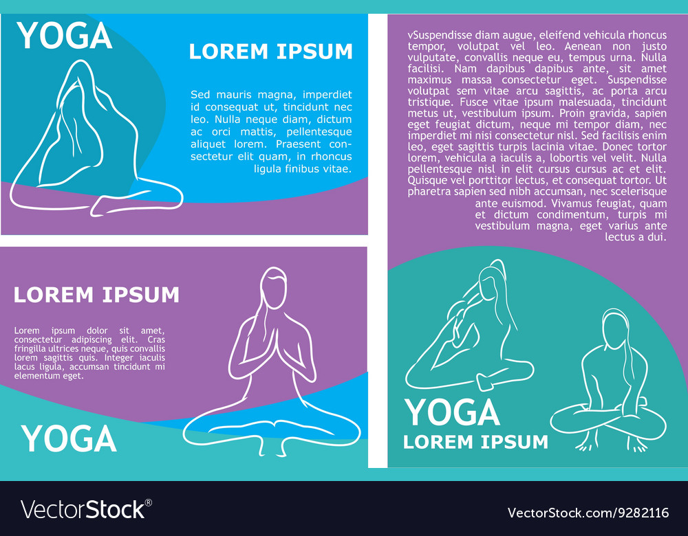 Yoga flyer template vector image