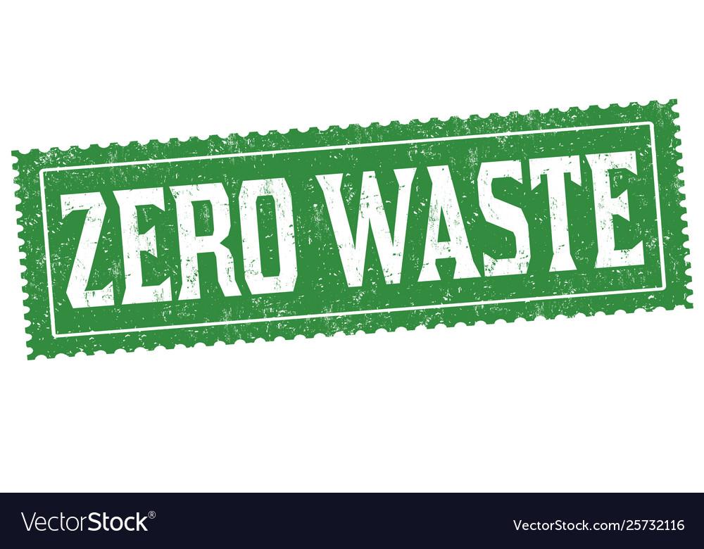 Zero waste sign or stamp