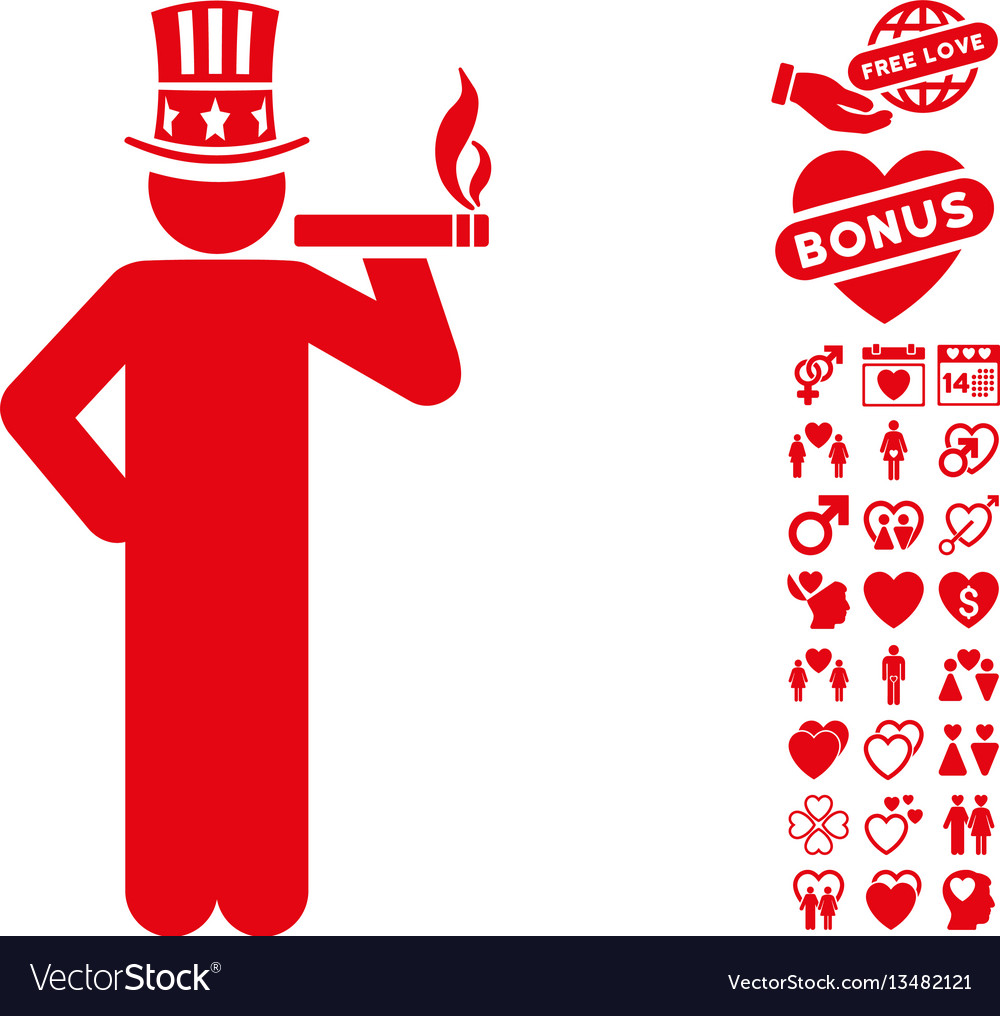 Capitalist icon with dating bonus