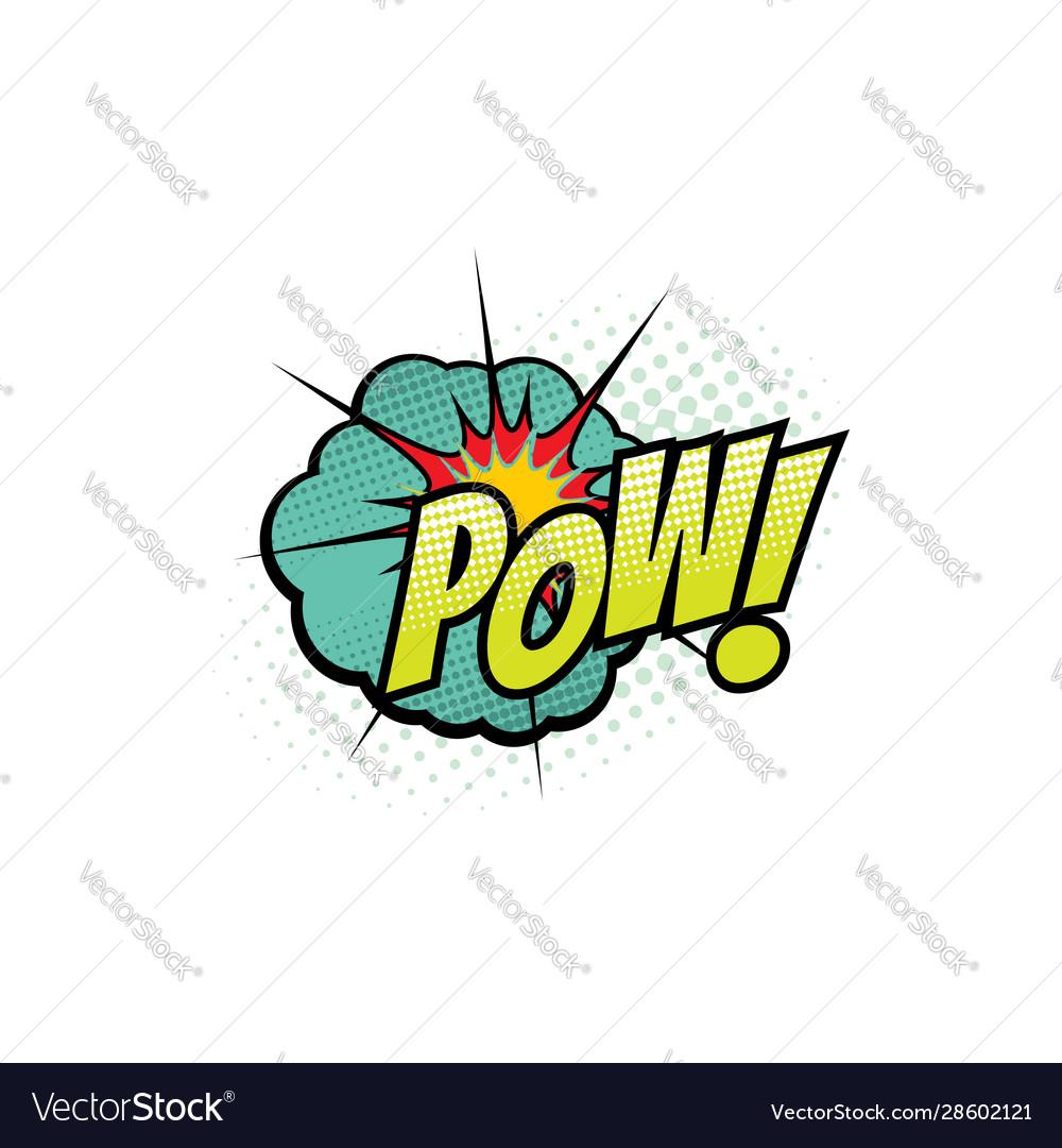 Cartoon comic book sound pow bubble blast