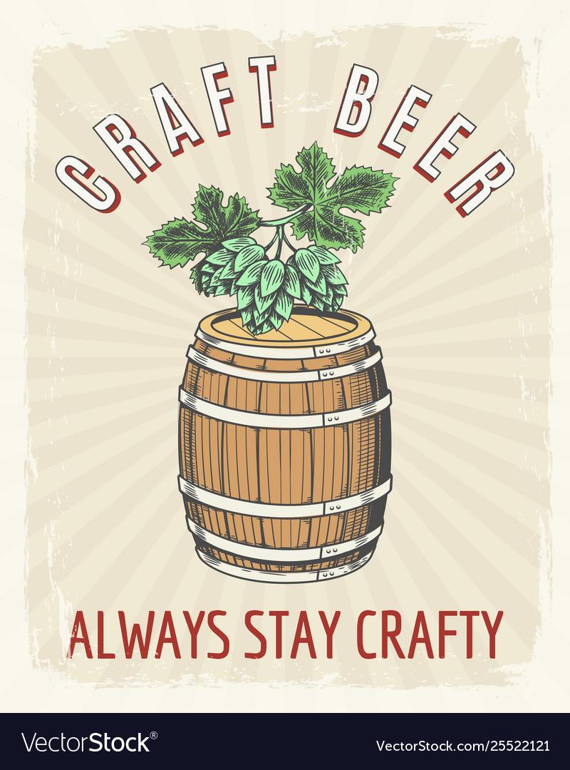 Craft beer vintage poster