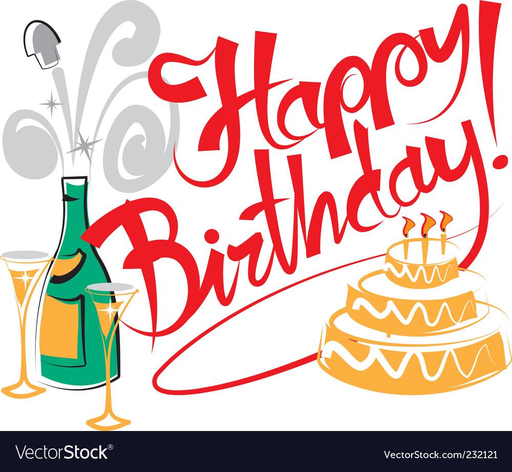 happy birthday royalty free vector image vectorstock rh vectorstock com happy birthday vector watercolour happy birthday vector images
