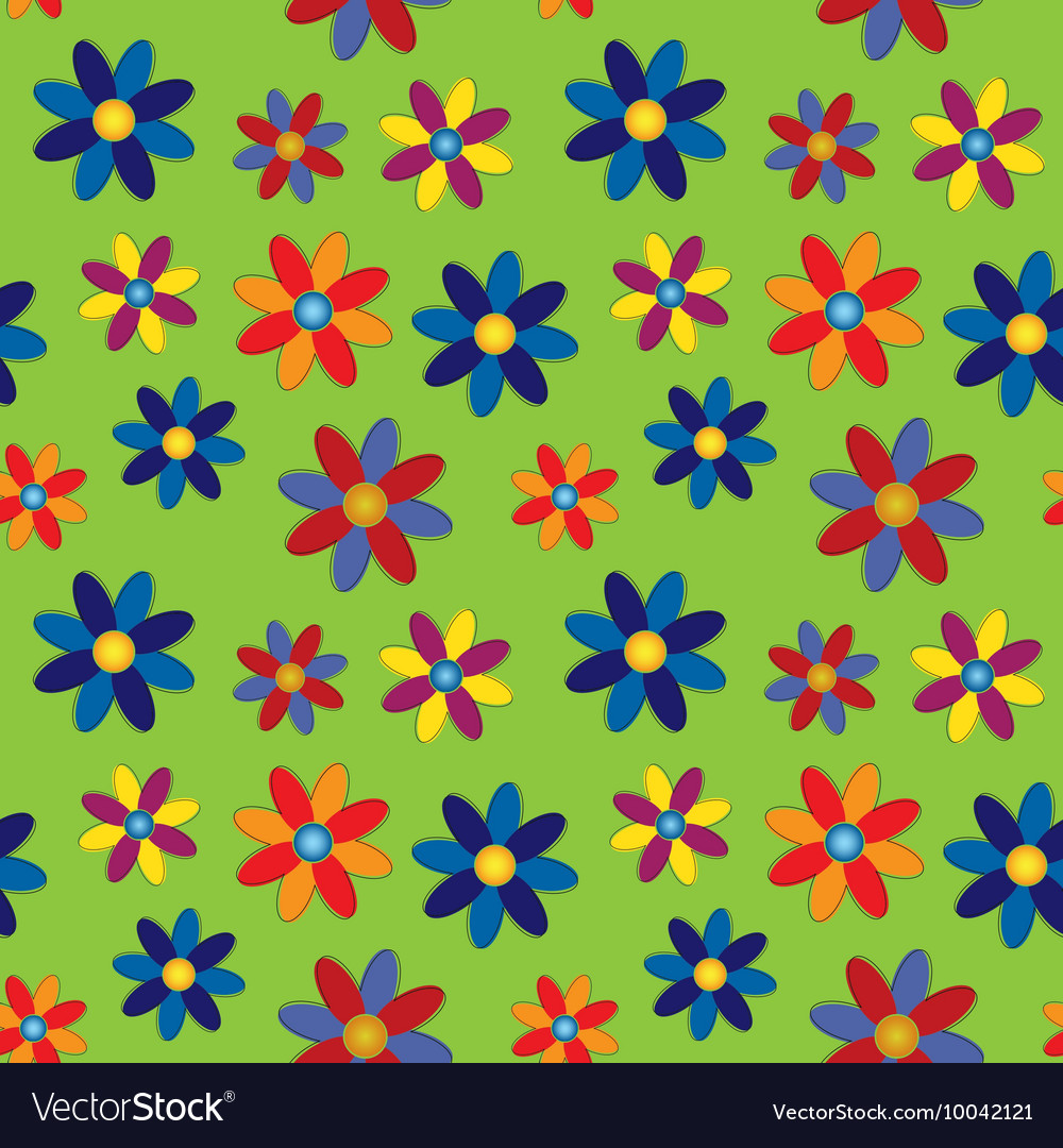Seamless - colored flowers