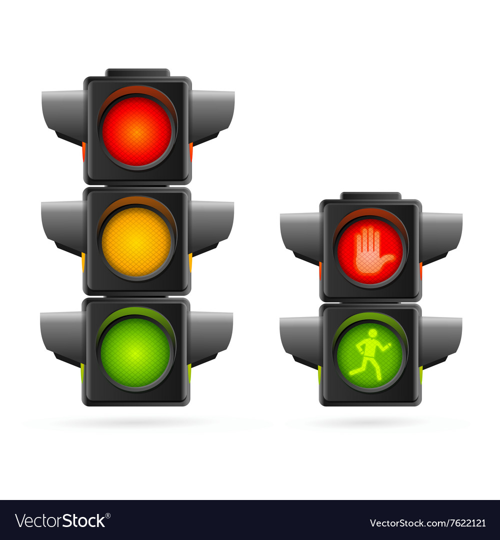 Traffic Lights Set Realistic