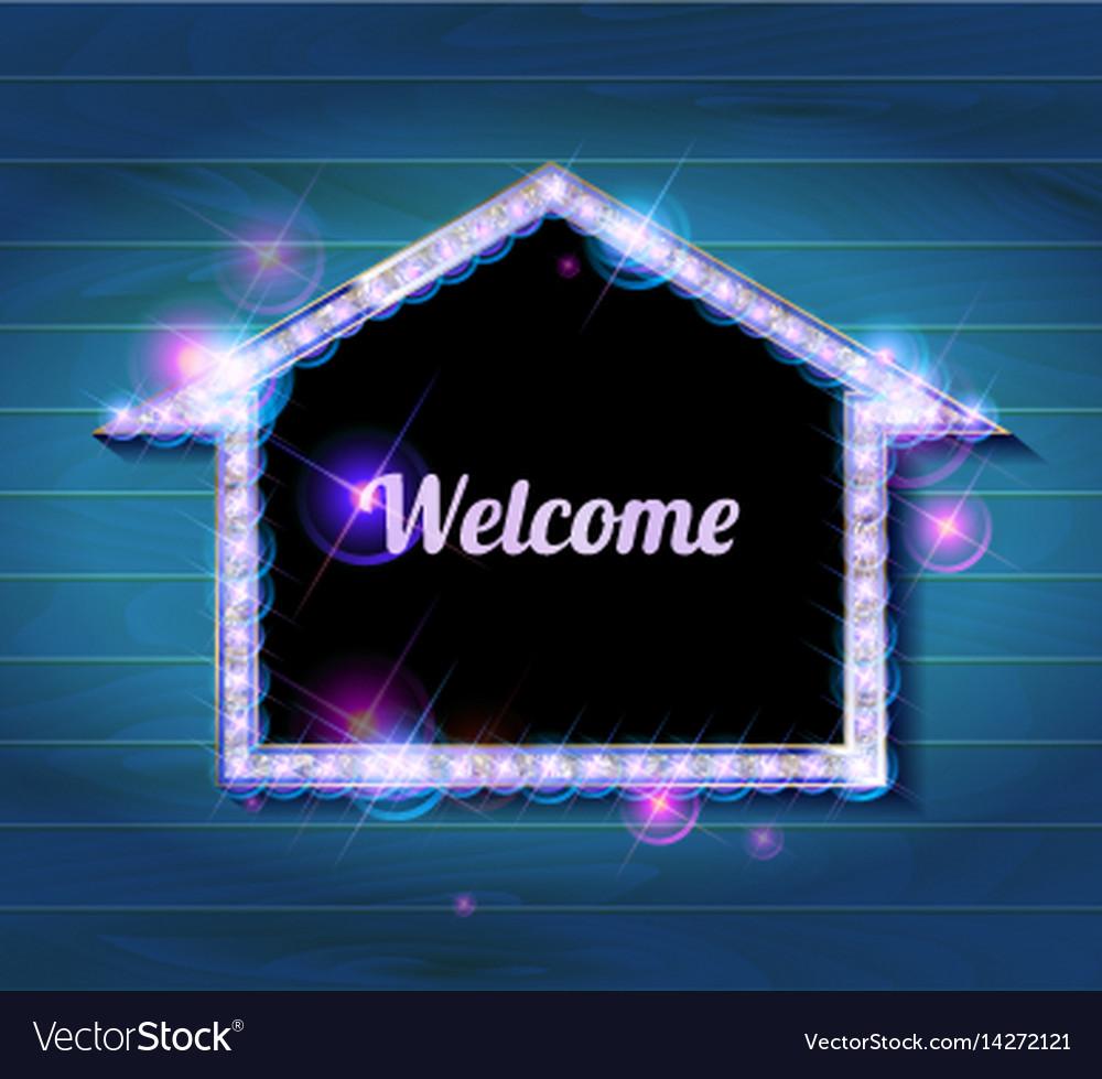 Welcome banner glowing arrow