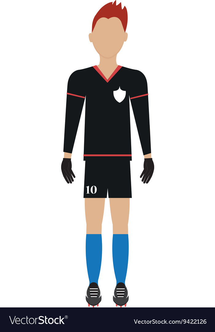 Avatar man soccer player graphic vector image