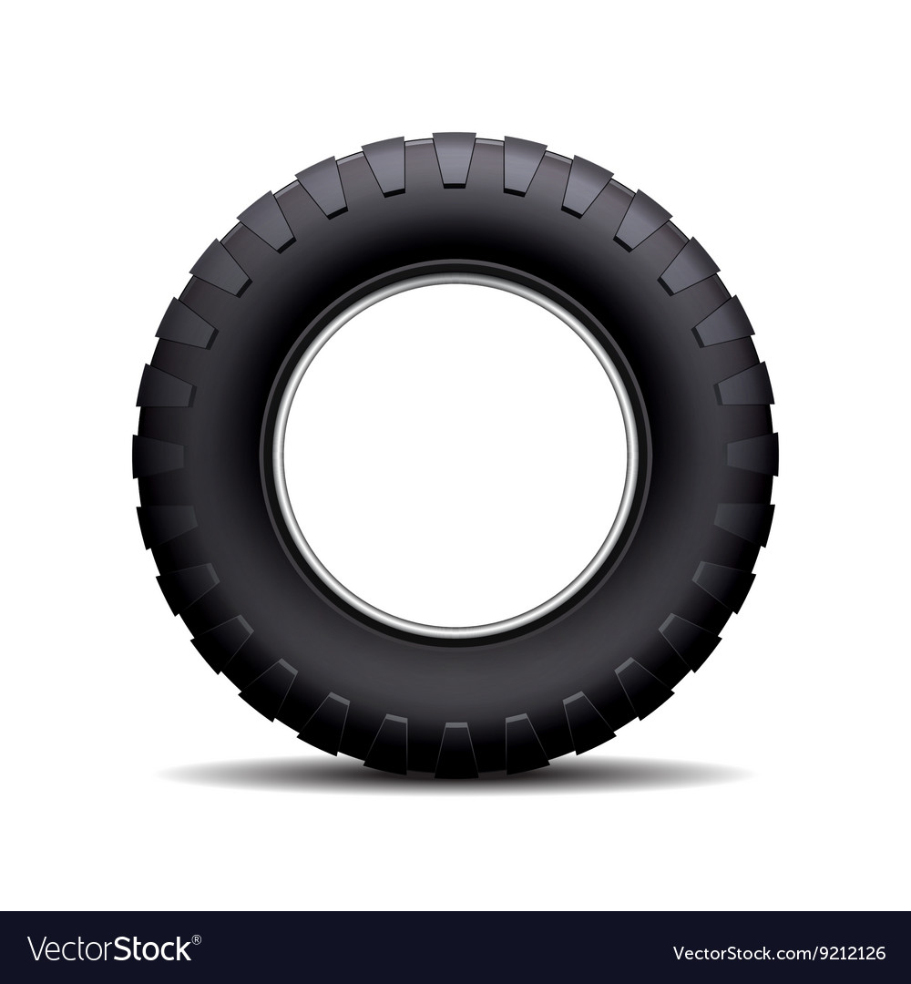 Car tire isolated on white background vector image