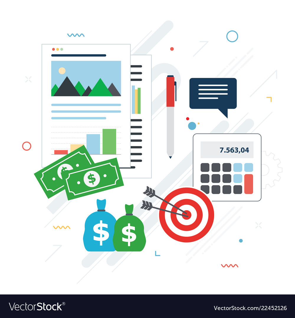 Financial investment analytics with growth report