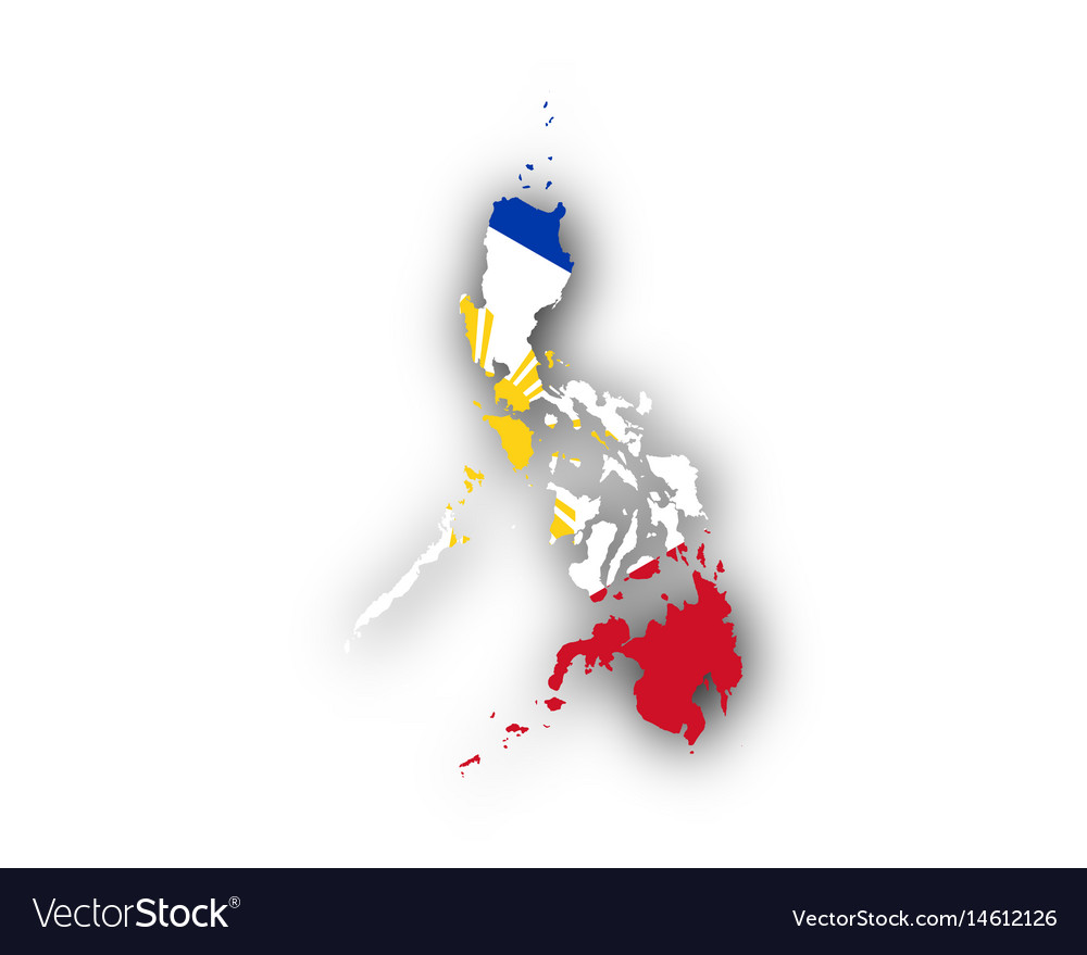 Map And Flag Of The Philippines Royalty Free Vector Image