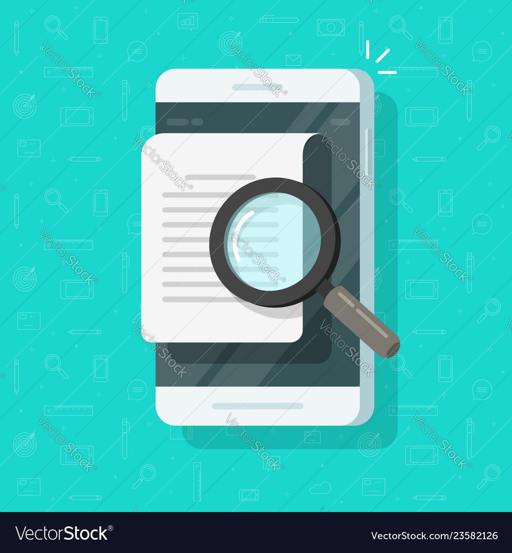 Mobile phone document analyzing flat