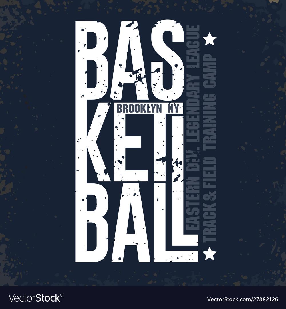 New york baketball t-shirt sport typography