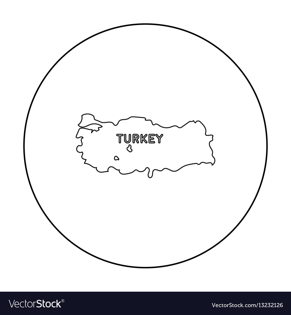 Territory of turkey icon in outline style isolated vector image