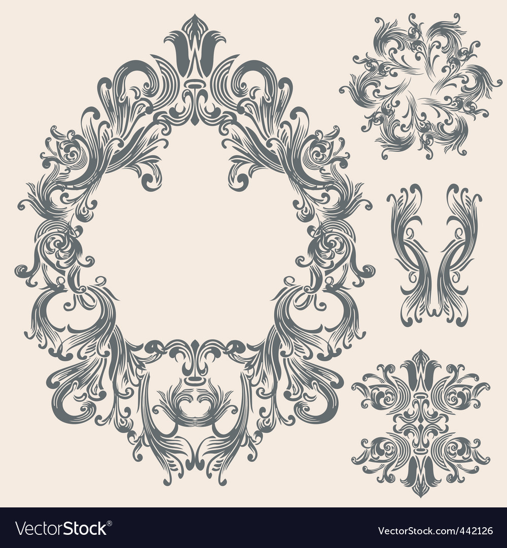 victorian frame royalty free vector image vectorstock rh vectorstock com victorian frame vector photoshop victorian frame vector free download